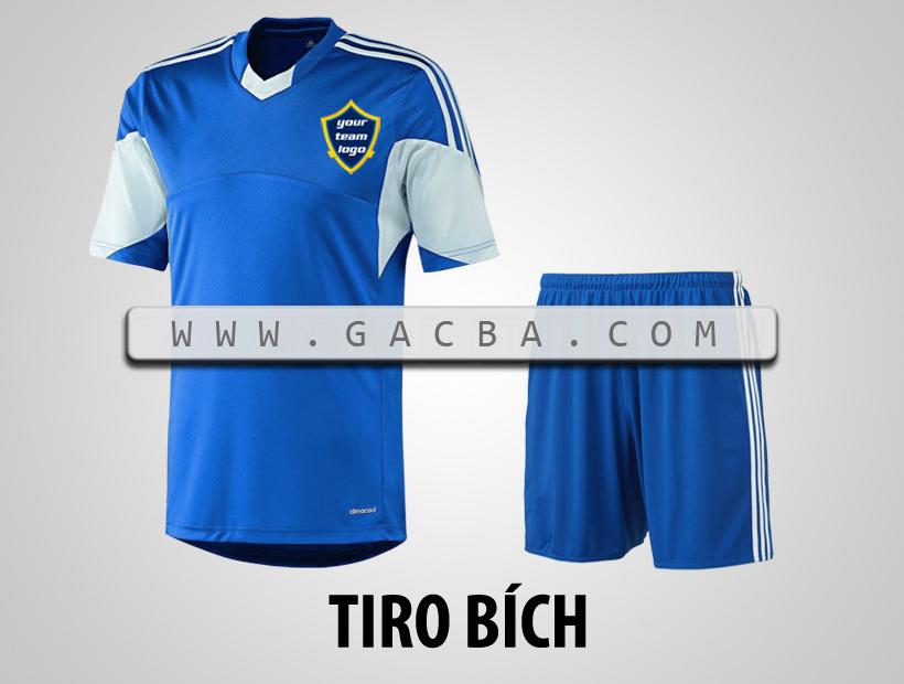 áo bóng đá không logo Tiro xanh