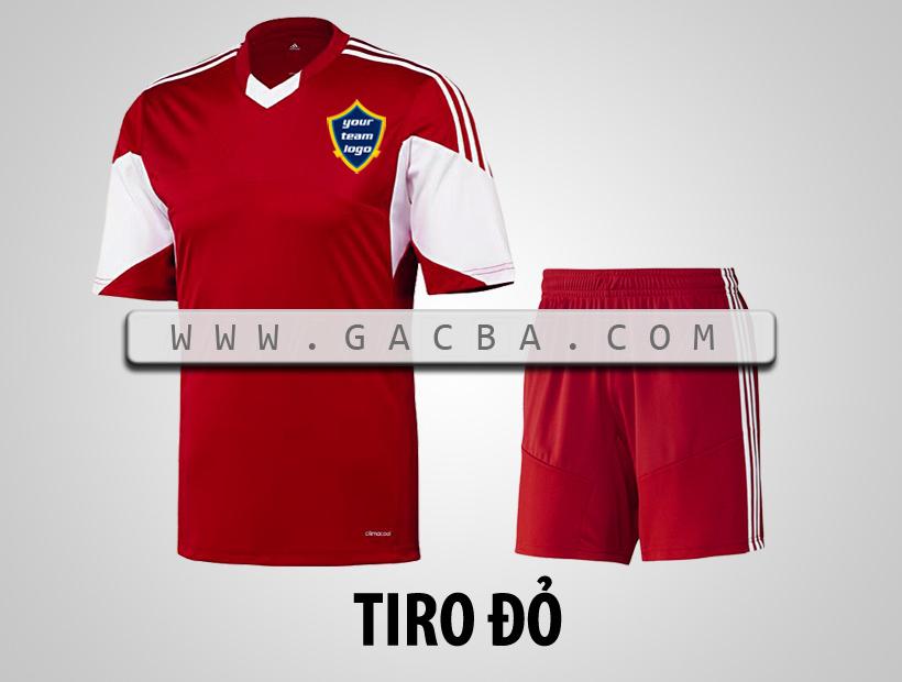 áo bóng đá không logo Tiro đỏ