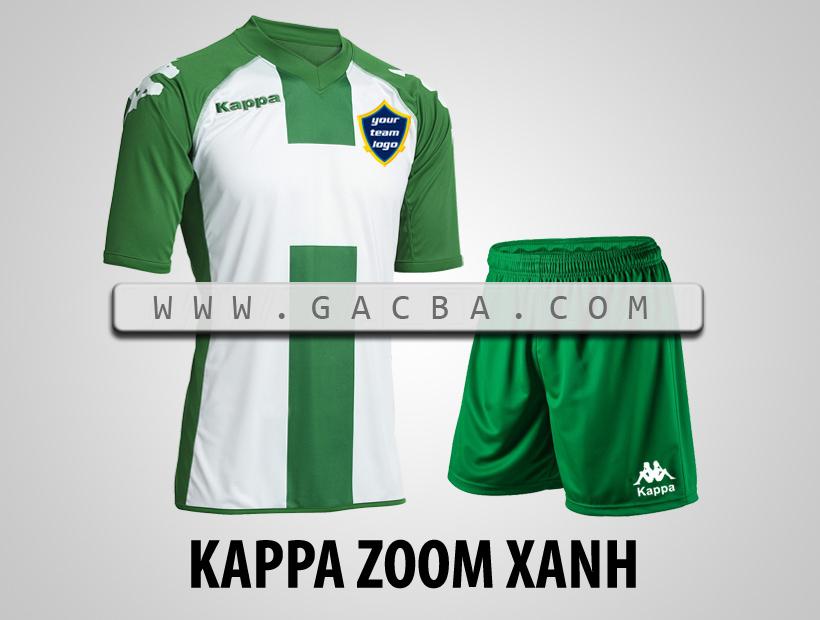 áo bóng đá Kappa Zoom xanh