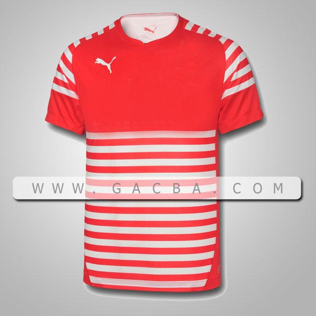 áo bóng đá không logo puma đỏ