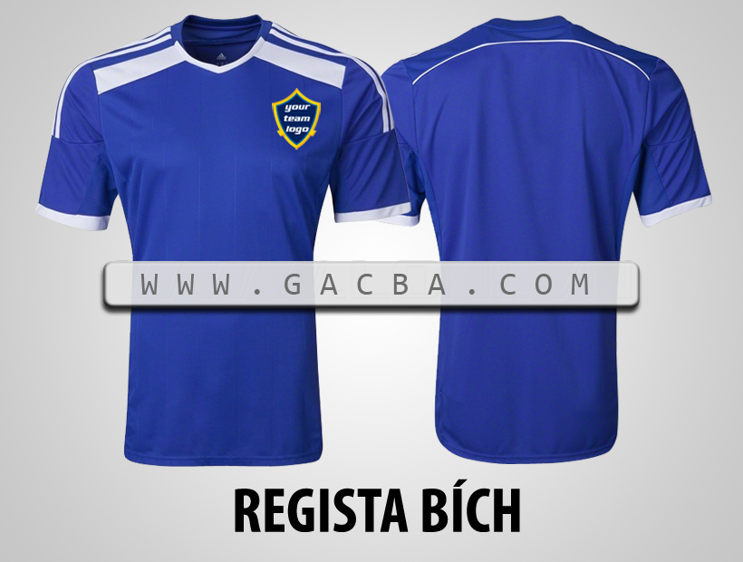 áo bóng đá không logo regista xanh
