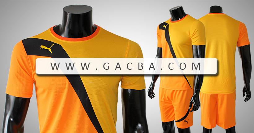 Bộ bóng đá không logo Puma Tia Chớp vàng cam