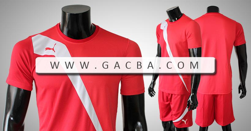 Bộ bóng đá không logo Puma Tia Chớp đỏ