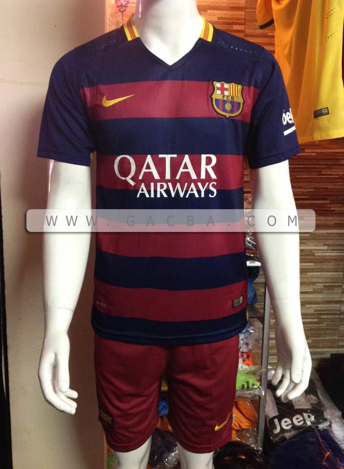 Quần áo bóng đá Barca sân nhà 2016