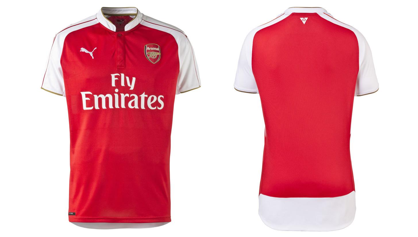 áo bóng đá Arsenal đỏ mùa giải 2015 2016