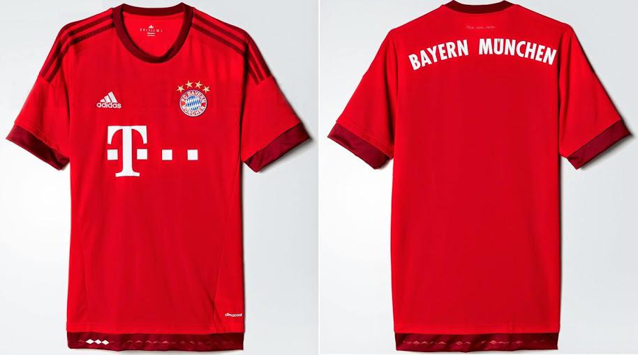 áo bóng đá Bayern Munich đỏ 2015 2016