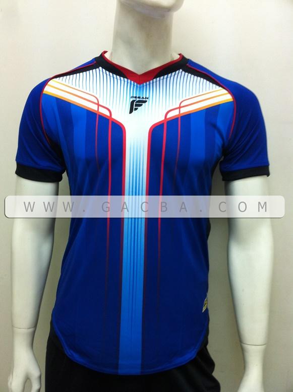 áo bóng đá không logo pegan xanh
