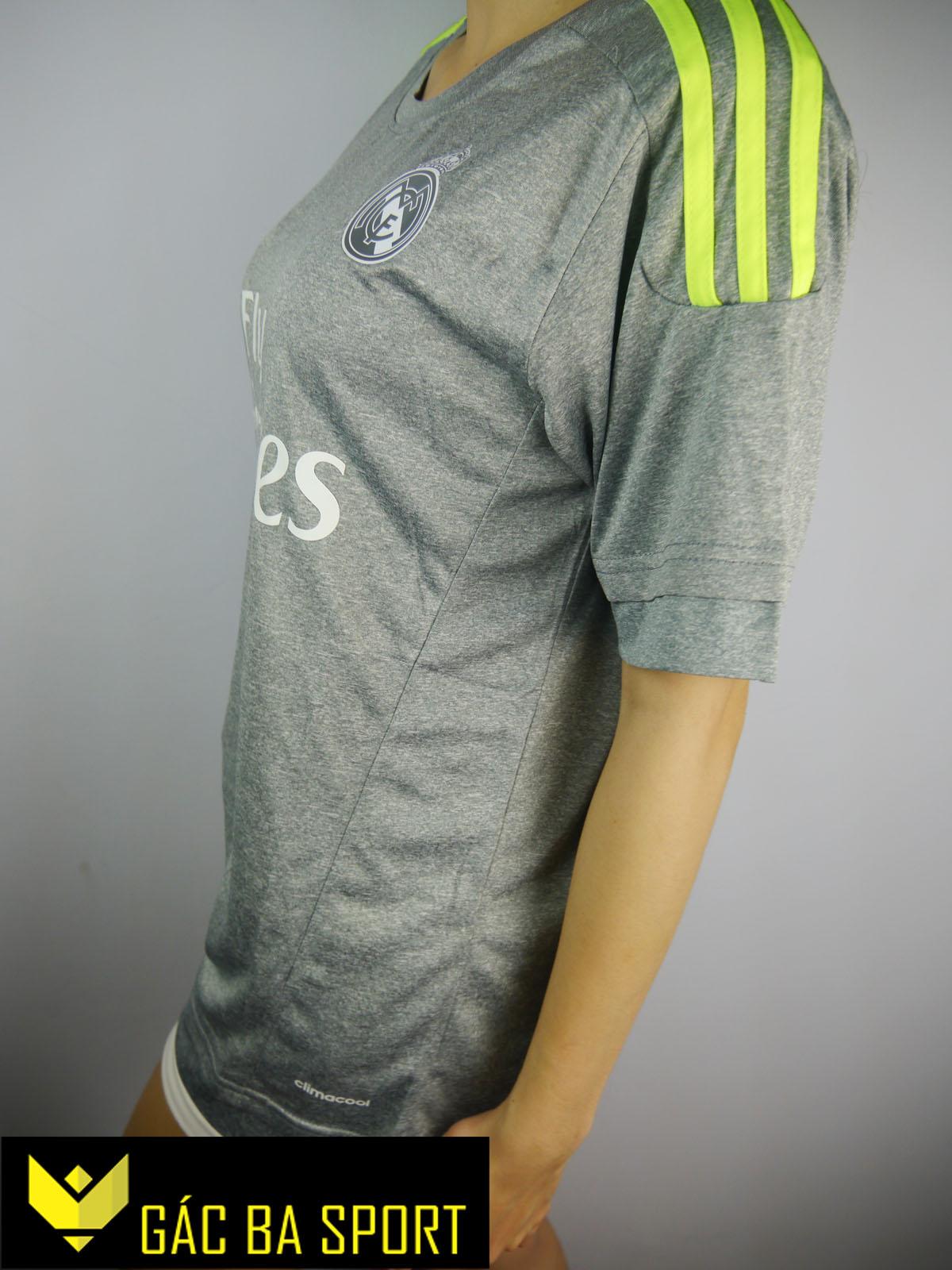 áo bóng đá Real xám 2015