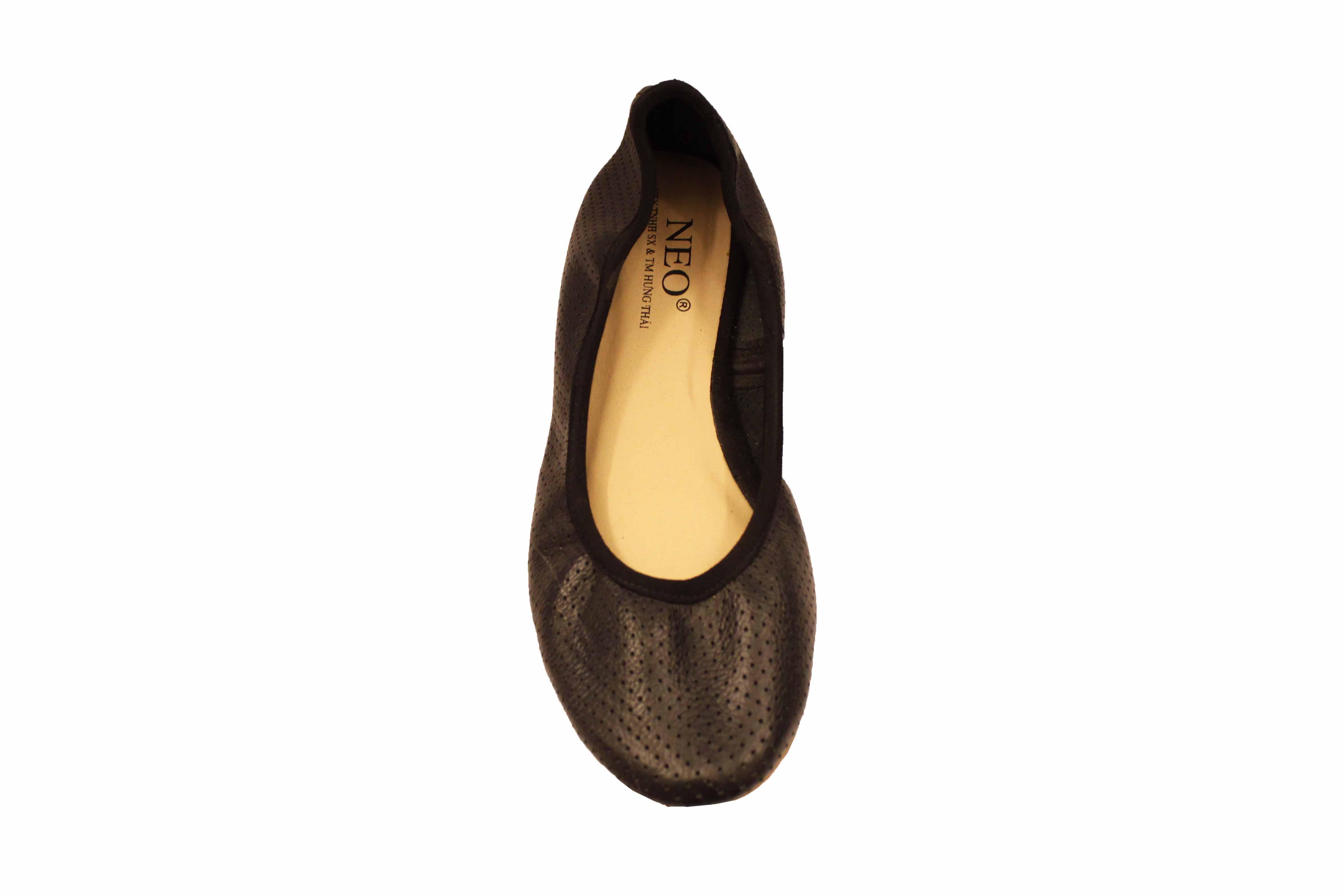 giày da mềm đục lỗ