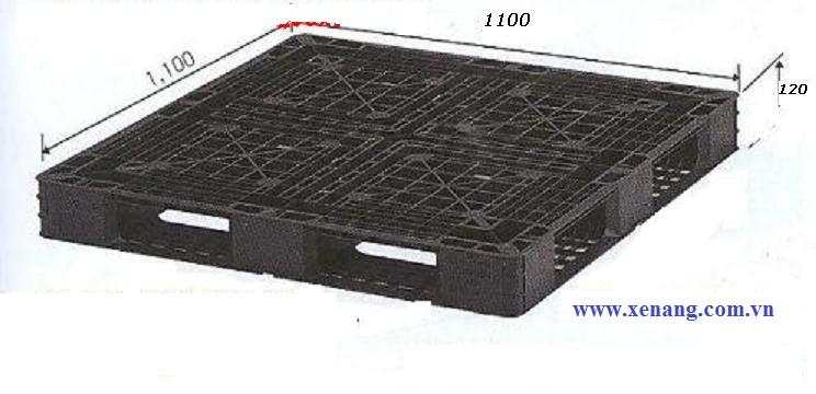 Pallet nhựa đã qua sử dụng kích thước 1100x1100x120mm tại Hồ CHí minh