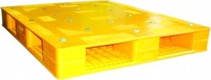 Pallet nhựa 2 mặt PL01HG 1200x1000x145mm kê hàng nặng tại hồ chí minh