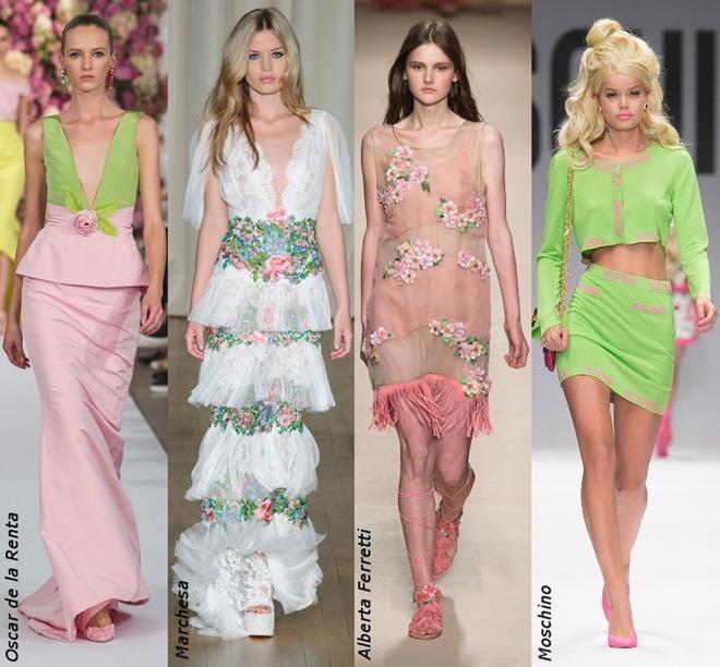 Phối màu cho trang phục mùa xuân