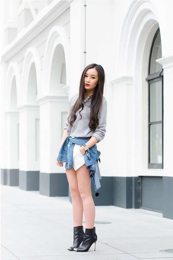 Phong cách với áo buộc ngang eo