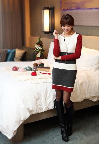 Hoặc diện áo len dáng dài như váy cũng là một lựa chọn tuyệt vời