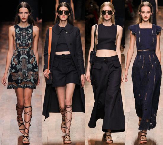 Bên cạnh đó BST Xuân hè 2015 của Valentino còn có những thiết kế hiện đại