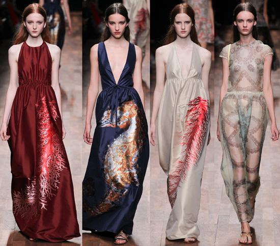 Đơn giản nhưng sang trọng là những gì mà các nhà thiết kế gửi gắm trong những mẫu thiết kế của Valentino