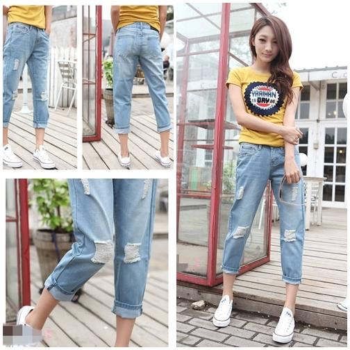 Quần Jeans lửng lựa chọn thông minh cho các bạn trẻ