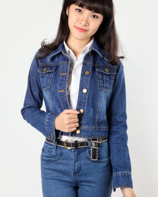 Áo khoác Jeans ấm áp ngày đông