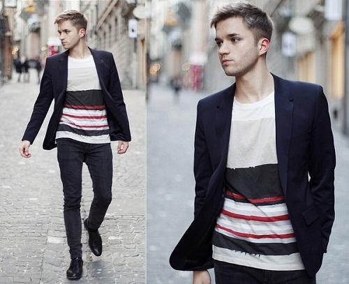 Set đồ hoàn hảo cho quý ông với áo Blazer và quần jean