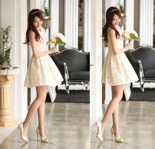 Váy đẹp tinh khôi, xinh xắn