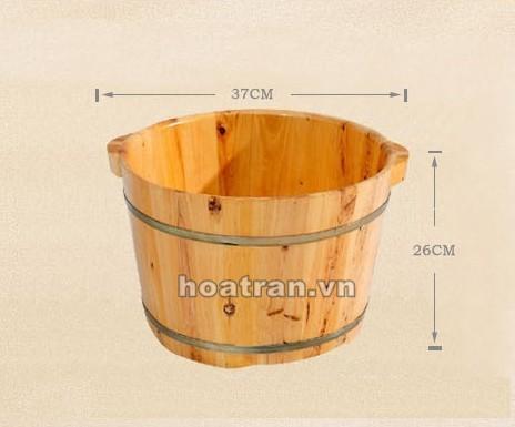 Kích thước tổng thể của chậu gỗ ngâm chân