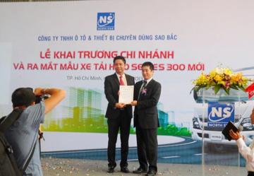 Ông Masaaki Mochizuki – Tổng giám đốc HMV phát biểu tại buổi lễ và trao giấy chứng nhận đại lý 3S chi nhánh Tp. HCM cho Sao Bắc