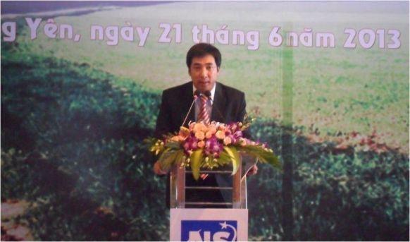 Ông Nguyễn Vương Hùng- Phó tổng giám đốc Hino Motors Việt Nam phát biểu tại buổi lễ