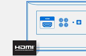 Kết nối HDMI, USB linh hoạt
