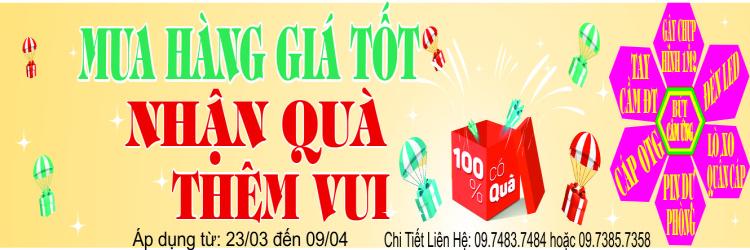Mua hàng giá tốt - Nhận quà thêm vui - 100% có quà