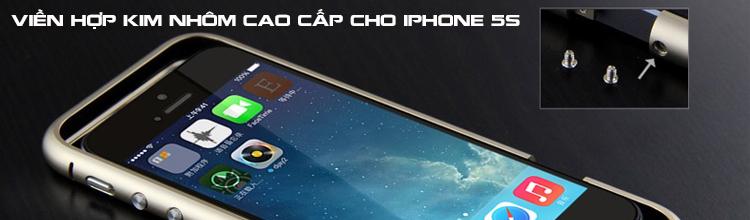 Viền nhôm nguyên khối cao cấp cho iPhone 5-5S