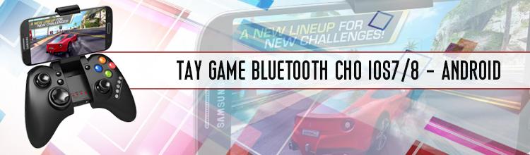 Tay cầm chơi game không dây độc đáo cho Android lẫn iPhone
