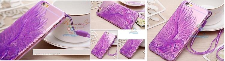 Ốp dẻo 3D Thiên Thần tuyệt đẹp cho iPhone 6-6plus