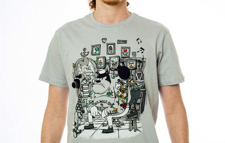 áo thun hoạt hình cổ điển