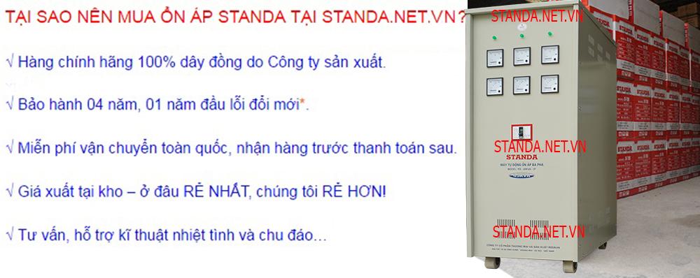 Standa 45 kVA 3Pha Dây Đồng 100% Chạy Êm Giá Tốt.