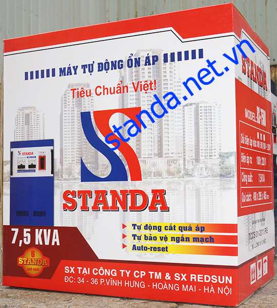 on ap standa 7,5kva chinh hang