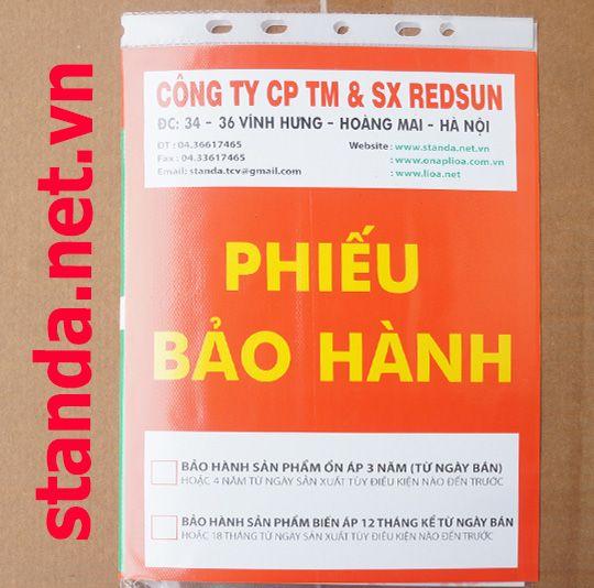 Phieu bao hanh on ap standa