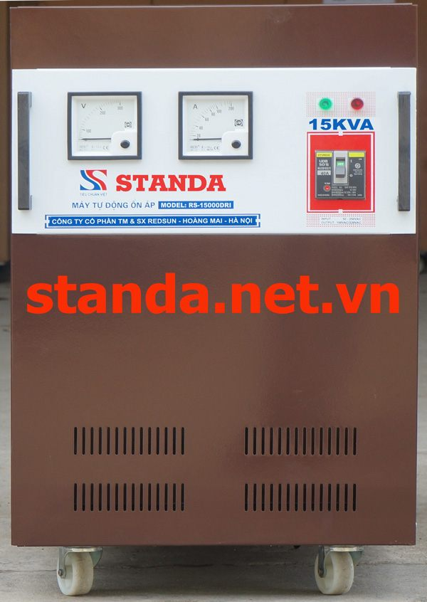 on ap standa 15kva dri chinh hang
