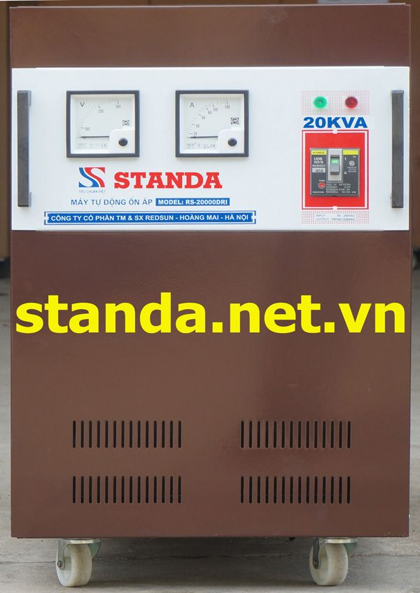 on ap standa 20kva dri chinh hang