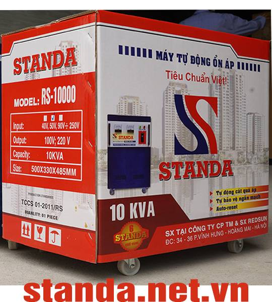 Vo giay on ap standa 10kva chinh hang