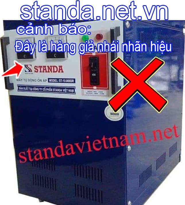 Đây là ổn áp Standa 10kVA giả nhái nhãn hiệu-Xin Cảnh Báo