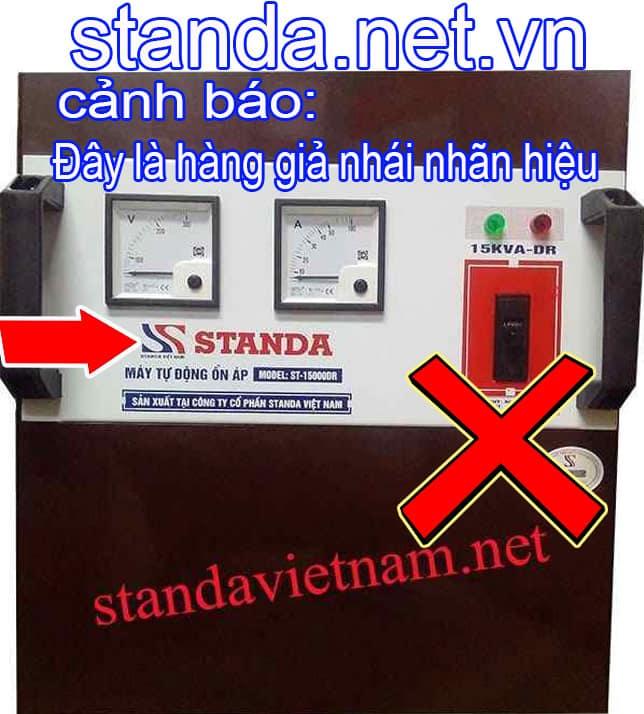 Đây là ổn áp Standa 15kVA giả nhái nhãn hiệu-Xin Cảnh Báo