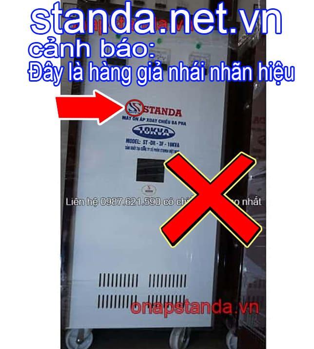Ổn áp Standa 10kVA 3F giả nhái nhãn hiệu-Xin Cảnh Báo