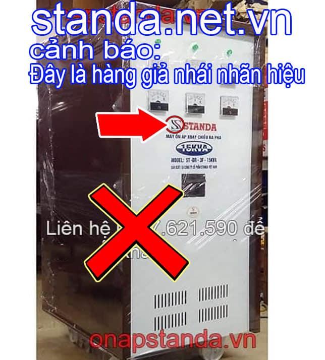 Ổn áp Standa 15kVA 3F giả nhái nhãn hiệu-Xin Cảnh Báo