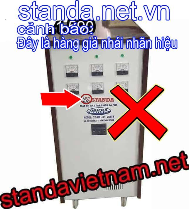Ổn áp Standa 20kVA 3F giả nhái nhãn hiệu-Xin Cảnh Báo