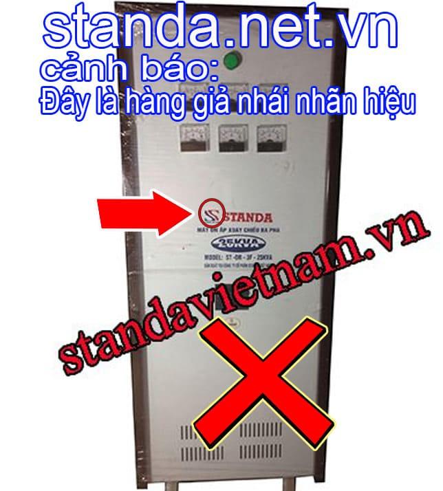 Ổn áp Standa 25kVA 3F giả nhái nhãn hiệu-Xin Cảnh Báo