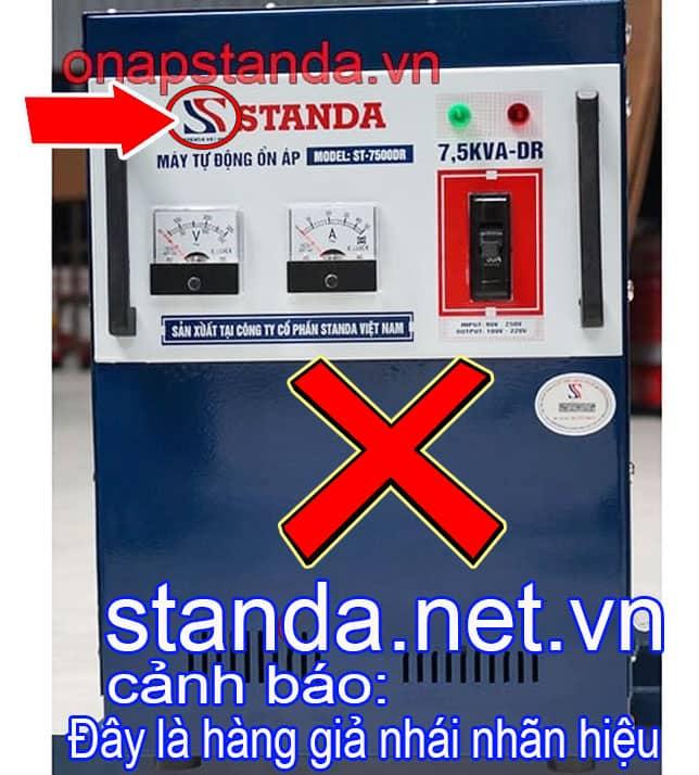 Ổn áp Standa 7,5kVA giả nhái nhãn hiệu-Xin Cảnh Báo