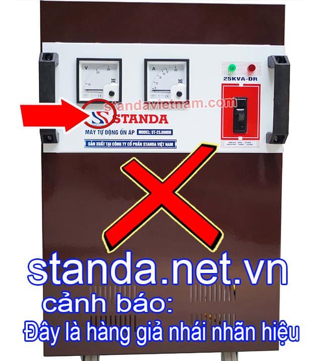 Ổn áp Standa 25kVA giả nhái nhãn hiệu đánh lừa người tiêu dùng-Xin Cảnh Báo