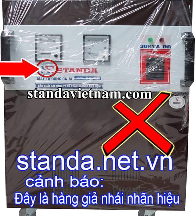 Ổn áp Standa 30kVA giả nhái nhãn hiệu đánh lừa người tiêu dùng-Xin Cảnh Báo