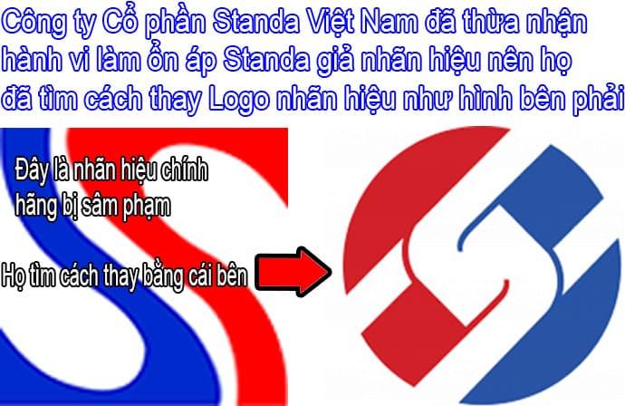Logo STANDA chính hãng bị sâm phạm