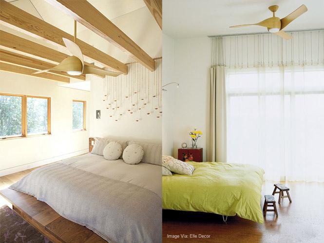 quạt trần phù hợp với căn phòng